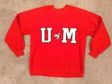 "Vintage ""U of M"" University of  Maryland Red Crewneck Sweatshirt Size L"