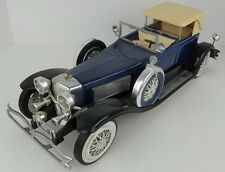 Vintage Jim Beam Empty 1934 Duesenberg Model J Dark Blue Car Decanter ACD Museum