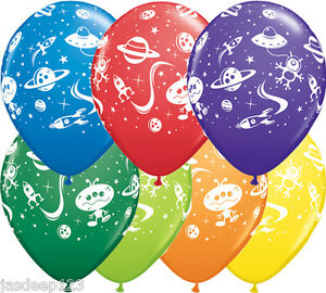 Aliens-and-Space-Ships-Printed-Latex-Balloons-Birthday-Party-Kids-Stars-Planets
