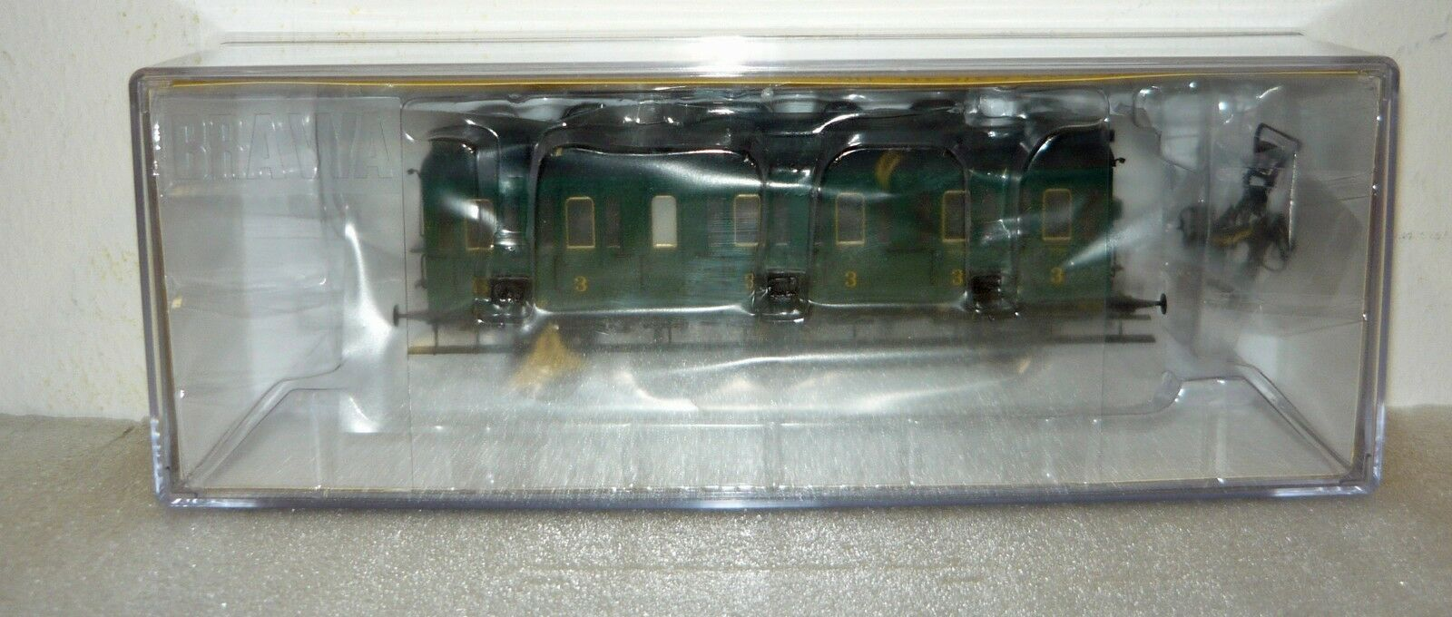 BRAWA 48455, compartimento CARRELLO C della SNCB,  53967, Epoca III, h0, neu&ovp