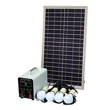 25w Off Grid Solar Lighting Kit Log Cabin Summerhouse Garden Shed Garage Gazebo