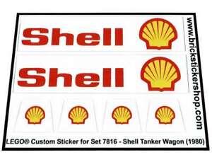 Precut-Replica-Sticker-for-Lego-Set-7816-Shell-Tanker-Wagon-1980