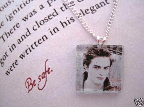 EDWARD CULLEN Glass Tile Robert Pattinson Picture SP Necklace Twilight Vampire