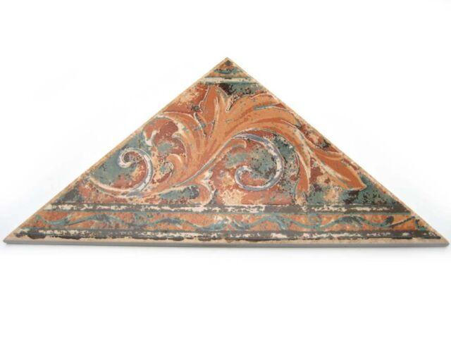 Dekor Kantenlänge 32,5 cm und 23 cm Bodenbordüre Dekor Fries Triangolo T2 braun