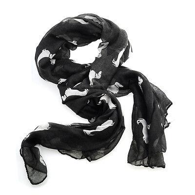 Women's Accessory Dachshund Cute Animal Print Scarf Large Soft Shawl Wrap Autumn