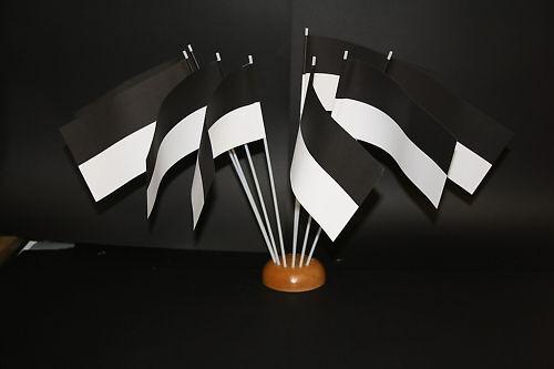 Flagge PWF-05975 25 Papierfähnchen//Papierfahnen schwarz-weiß