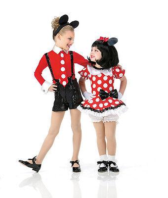 Hey Mickey Halloween Ballet Mouse Tutu Jazz Tap Costume CXS-AXL Minnie w/EARS