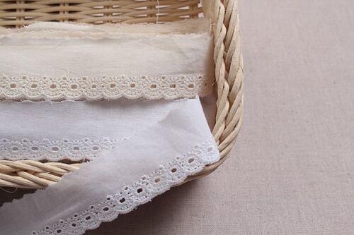 14Yds broderie anglaise vintage coton Oeillet Bordure en Dentelle 3 cm YH956 laceking