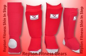Reptn Shin Instep Pads MMA Leg Foot Guards Muay Thai Kick Boxing Guard Protector