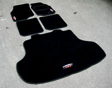 DELUXE Car Mats - Mitsubishi Lancer Evolution 8 (Evo VIII) + Boot Mat + MR Logos