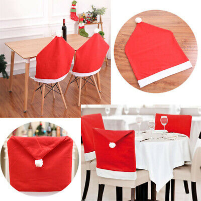 Dining Chair Back Covers Set Dinner Red