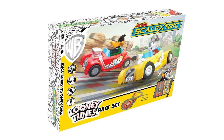 Mein Erstes Scalextric Looney Tunes Schlitz Carrennen Käfer Bunny & Daffy Ente