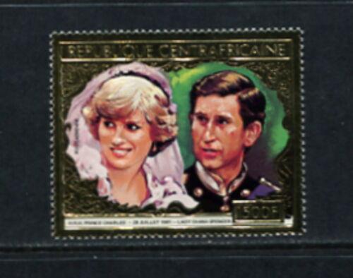 Central Africa 1981 #C253A Charles & Diana GOLD FOIL 1v. MNH G351