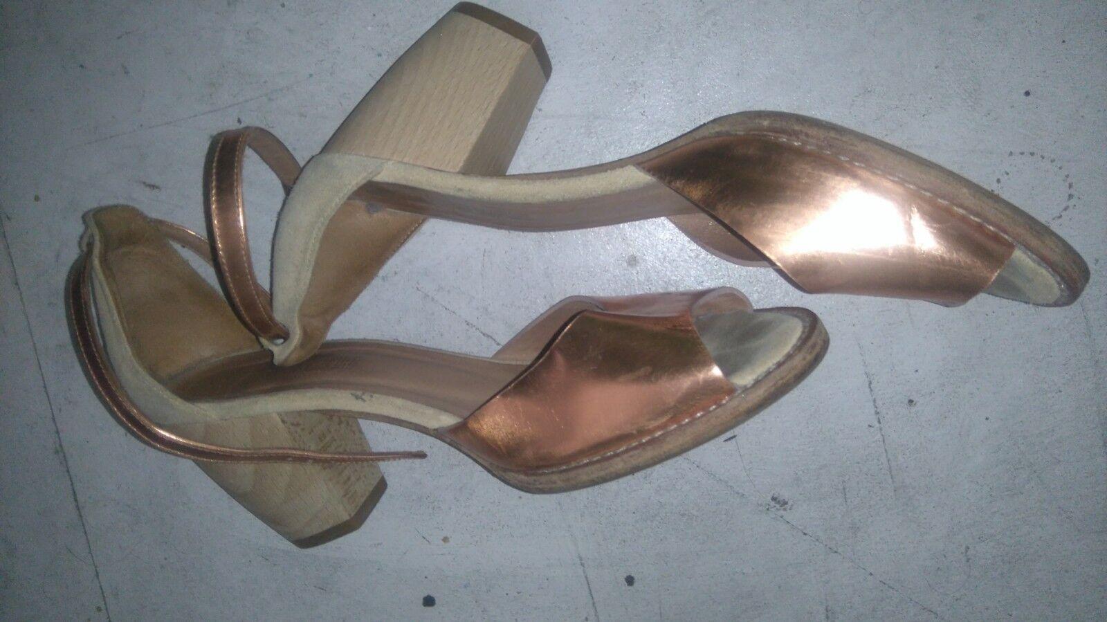Damenschuhe Anaid patent Kupri high heeled Sandales patent Anaid bronze ankle strap Größe38 open toe 9f86af