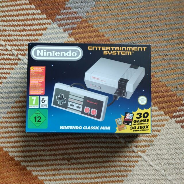 NES Classic MINI Edition Grey Home Console Boxed + Second Controler