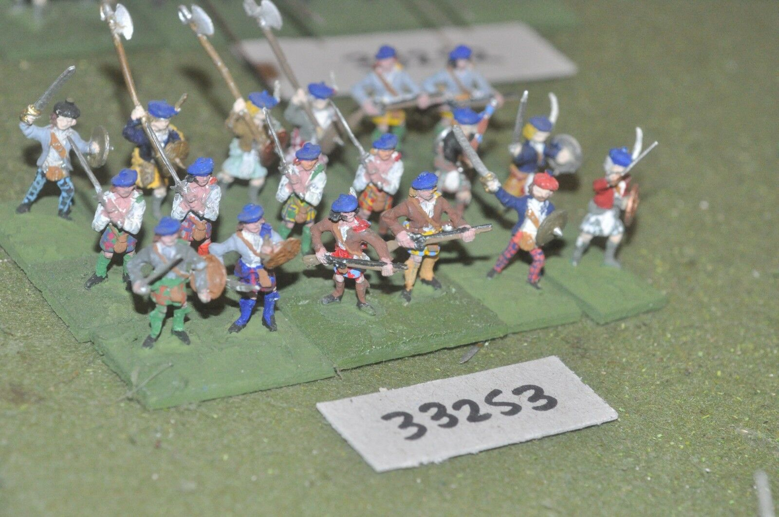 25mm ECW   scottish - montpink 18 figures - inf (33253)