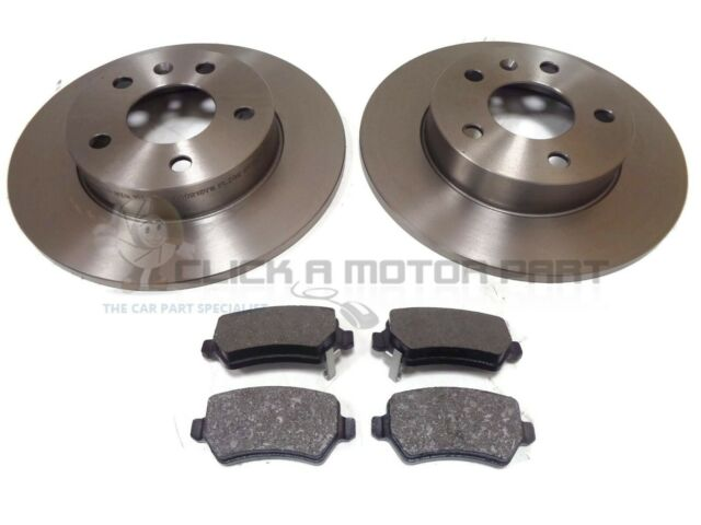 VAUXHALL ASTRA H MK5 1.6 16V SXi SRi 05-10 FRONT /& REAR BRAKE DISCS AND PADS NEW