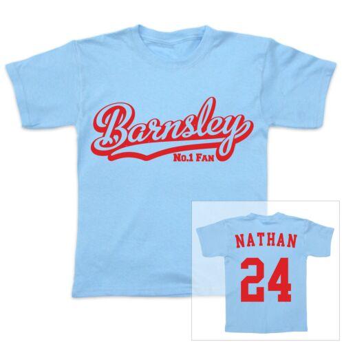 Barnsley Football Personalizado baby//child Camiseta