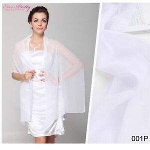 Black-White-Chiffon-Bride-Shawl-Scarf-Lady-Christmas-Birthday-Gift-170x50-cm