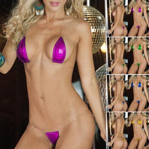 Femme String Lingerie Micro Maillot de Bain Chaud Soutien-Gorge Bikini Baignade