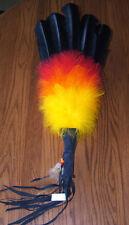 Colorful Ceremonial Dance Fan w/ Fancy Feathers Native American Regalia JG05