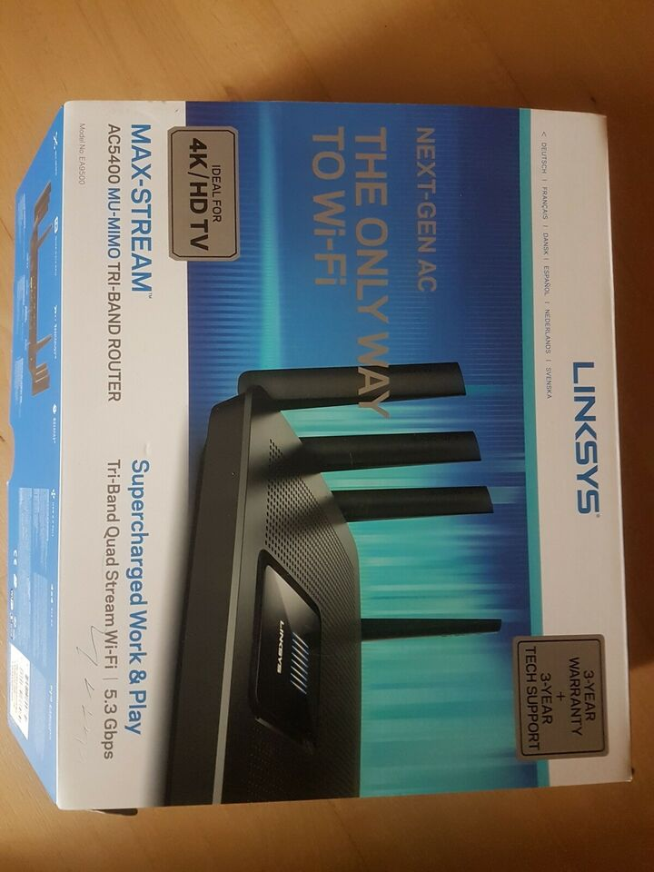 Router, wireless, Linksys ea 9500