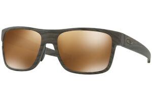 56ee20a213 Image is loading oo9361-07-57-Oakley-Sunglasses-Crossrange-Woodgrain-Prizm-