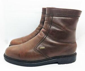 GALLUS-Lammfell-Stiefel-Boots-Gr-44-UK-9-5-Braun-Leder-Herren-Winter