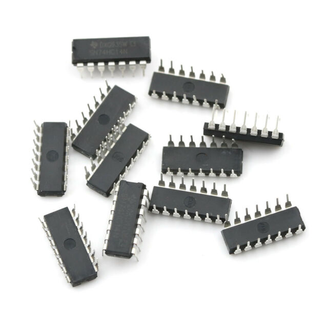 10pcs IC SN74HC14N 74HC14N 74HC14 CMOS INV 14-DIP