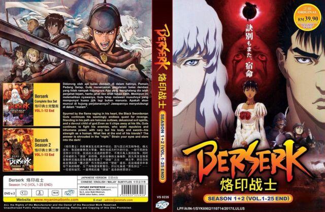 Dvd Anime Berserk Season 1 2 Vol 1 25 End English Sub All R0 Ebay
