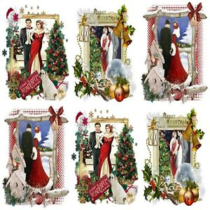 Christmas Toppers For Card Making.Details About Art Deco Lovers Christmas Embellishments 12 Card Making Toppers Card Toppers