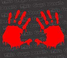 Bloody Zombie Hand Prints car decal walking dead vinyl outdoor window sticker
