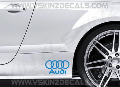 2x Audi Logo Premium Cast Skirt Decals Stickers S-line Quattro Q3 ...