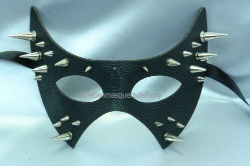 Masquerade Leather fashion Spike eye Mask Halloween costume Masquerade Party fun
