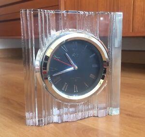 Crystal Sublime JapónSobremesa De Reloj Cristal Hoya En Detalles Tallado 8kOPnwXN0