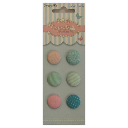 Dovecraft Cupcake Boutique-Pretty Tela Brads