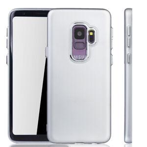 Samsung-Galaxy-S9-Funda-Estuche-Movil-Protector-Carcasa-de-Plata