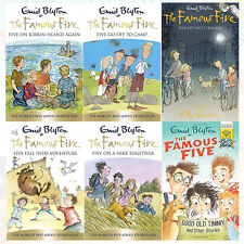 Enid Blyton Famous Five Books 6 to 10 and World Book 5 Books Collection Set NEW