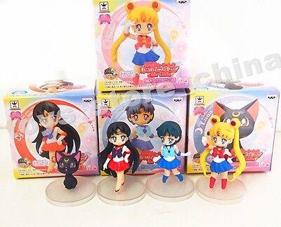 Anime Sailor Moon Mars Mercury Luna Set 4pcs Series 1 Toy Figure New in Box
