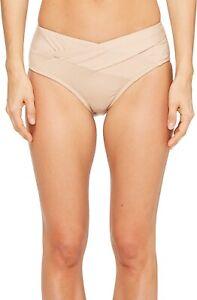 Kenneth-Cole-New-York-171314-Womens-Hipster-Bikini-Swim-Bottom-Sand-Size-Large