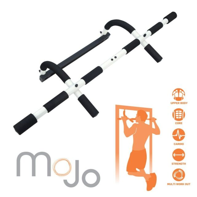 New MoJo Over Door Multi Gym Upper Body Workout Exercise  Pull Chin Up Pullup