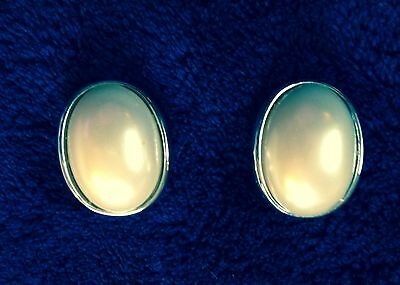 """Vintage Faux Pearl and Silver Earrings- Clip On- 1"""""""