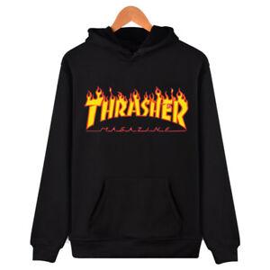 Image is loading Men-Women-Hoodie-Sweater-Hip-hop-Skateboard-Thrasher- 57e1bac11