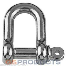 16mm Stainless Steel D Shackle Dee A4-AISI 316 10000kgs MBL FREE P+P
