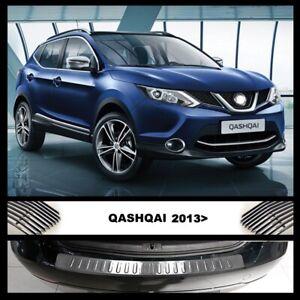 Fits-Nissan-Qashqai-J11-2013-2016-Chrome-Rear-Bumper-Protector-Guard-S-Steel