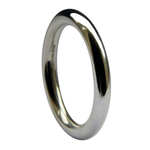 3mm 925 Sterling Silver Round Halo Wedding Rings UK HM Solid Band 4.7g NEW /& Box