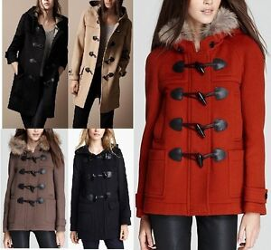 NWT Burberry Women's Wool Duffle Toggle Coat-Finsdale, Blackwell ...
