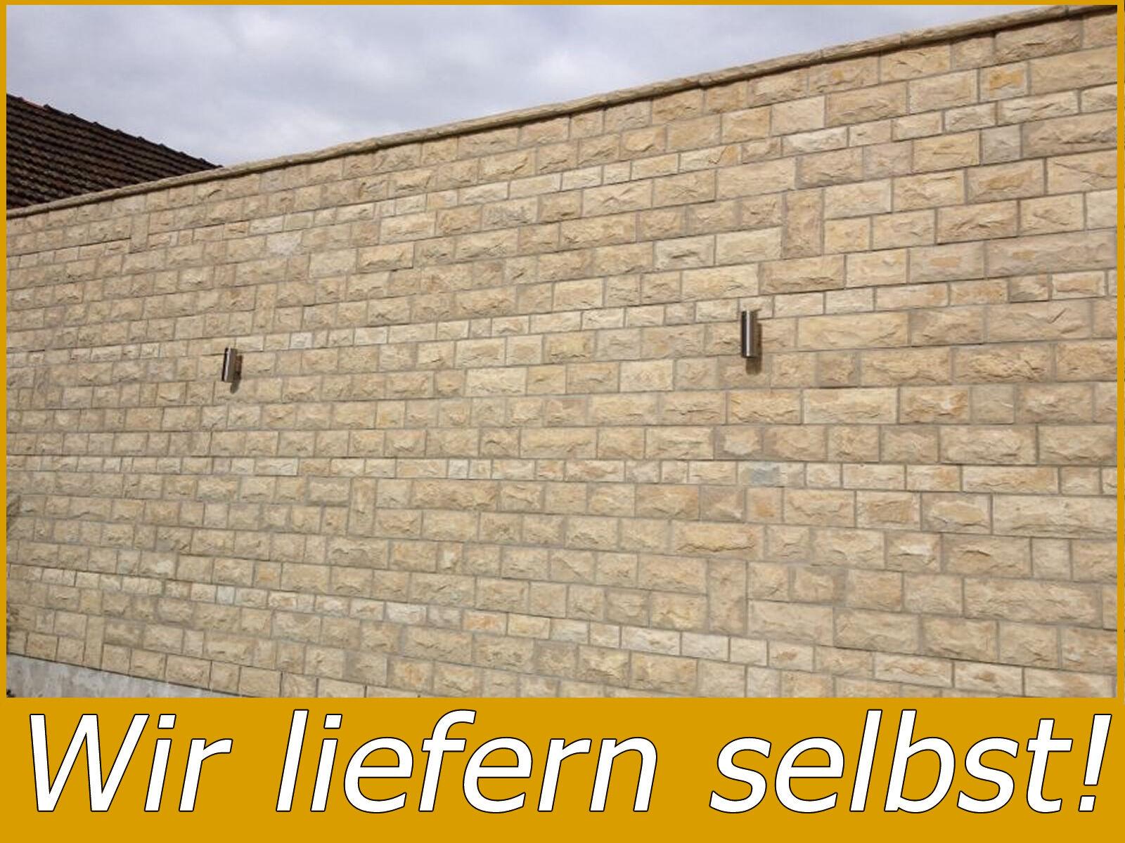 10M² NATURSTEIN WANDVERBLENDER RIEMCHEN KLINKER VERBLENDER BOSSIERT 20CM