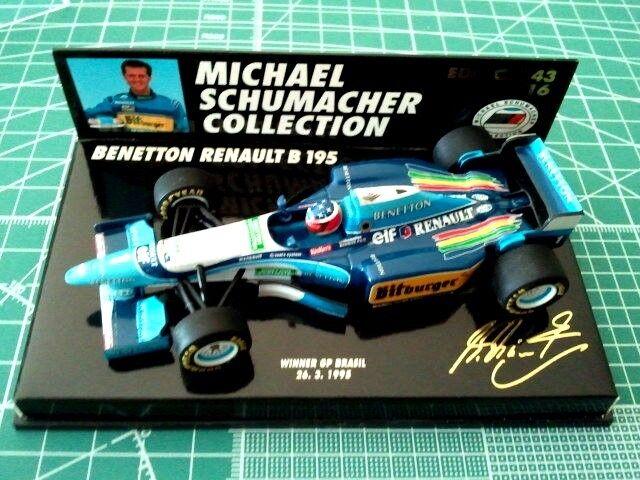 Michael SCHUMACHER - MINICHAMPS 510954301 - BENETTON RENAULT B 195 - BRASIL