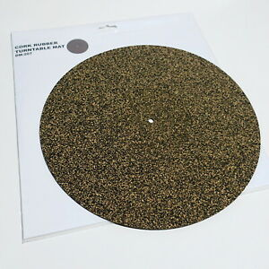 Anti-Static-Cork-Rubber-Turntable-Mat-295mm-Diameter-3mm-Thick-NEW